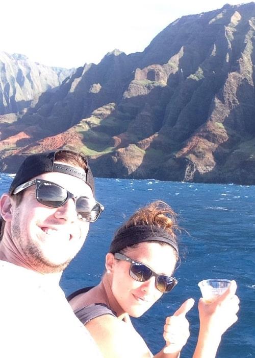 Drew Roy clicking a selfie with Renee Gardner in December 2015