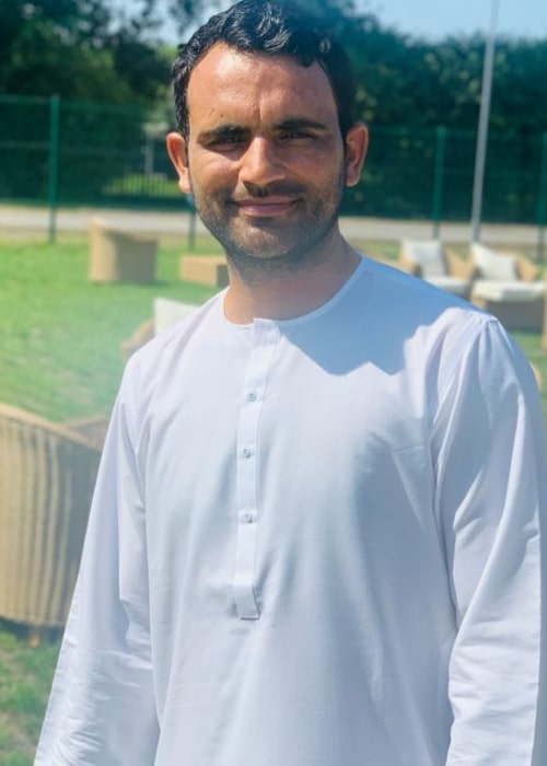 Fakhar Zaman as seen in an Instagram Post in July 2020