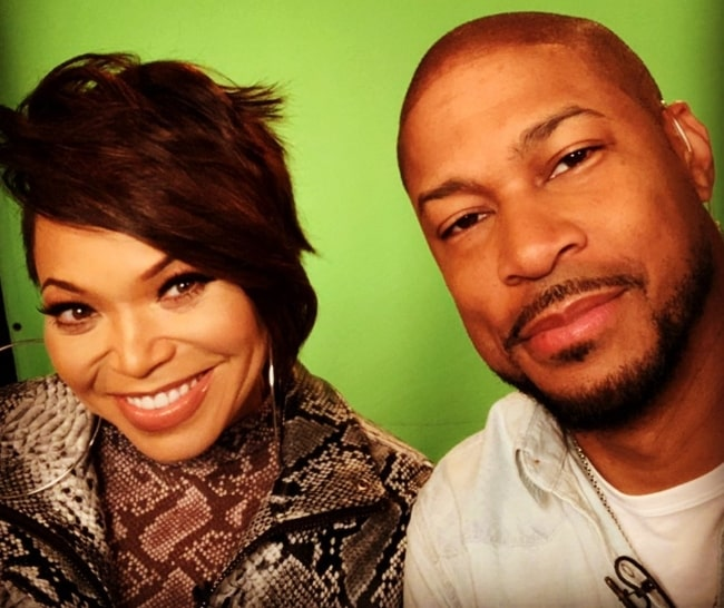Finesse Mitchell as seen while taking a selfie with Tisha Campbell in an Instagram post in October 2020