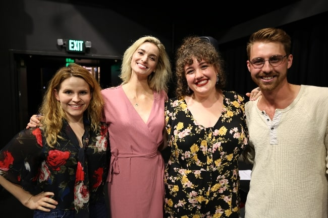 From Left to Right - Katherine McDonough, Allegra Edwards, Sarah Lindsley, and Paul Dufresne in August 2019