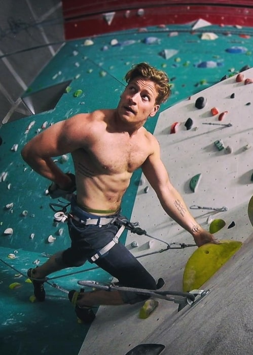 Gavin Stenhouse in August 2018 thrilled to be sport climbing again