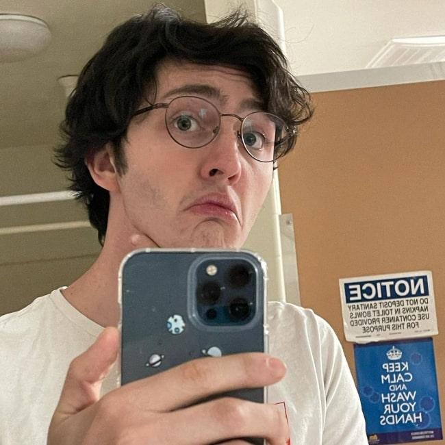 Gianni DeCenzo as seen in a selfie that was taken in December 2020