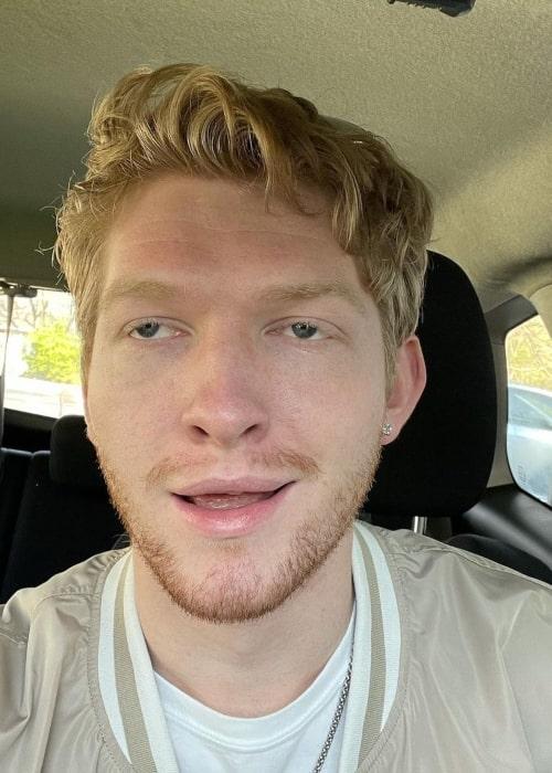 Iain Tucker as seen in a selfie that was taken in April 2021