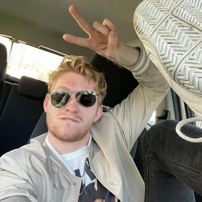 Iain Tucker in a selfie that was taken in April 2021