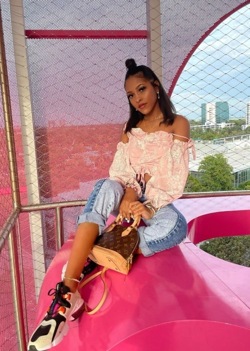 Jada Wesley as seen in a picture that was taken in Miami Design District in January 2021