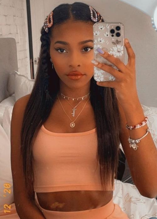 Jada Wesley as seen in a selfie that was taken in December 2020