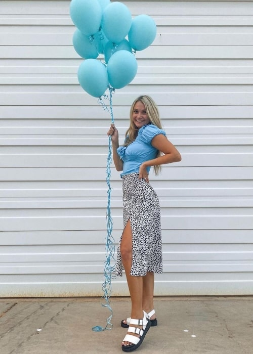 Jaine Nelson as seen in a picture that was taken on the day of her birthday in September 2020