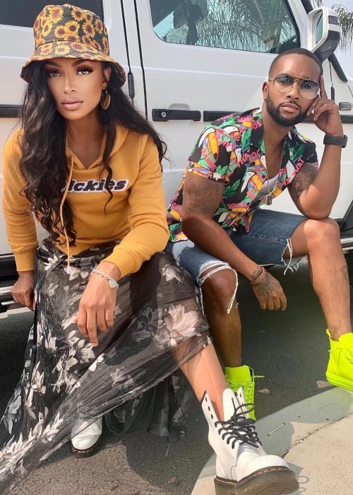Jarell Houston as seen in a picture with TikTok star iamchrissy97 in September 2020