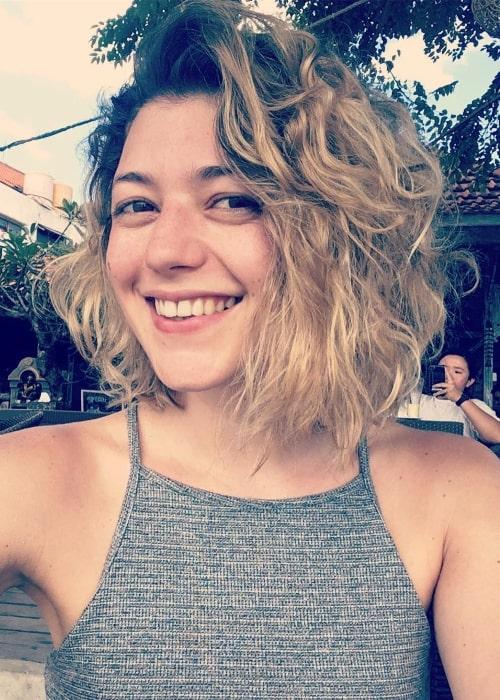 Jasmine Blackborow in Lembongan, Bali, Indonesia in May 2018