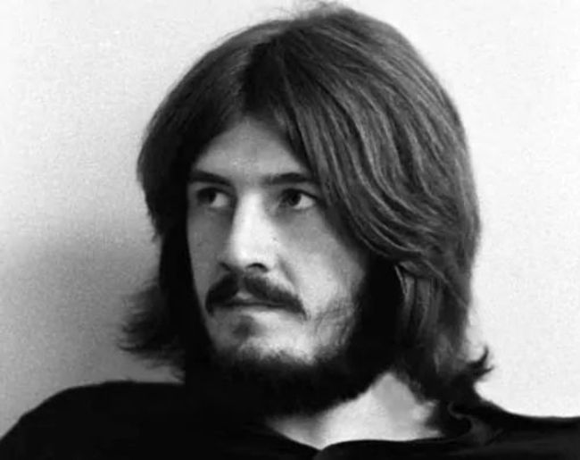 John Bonham as seen in a black and white picture