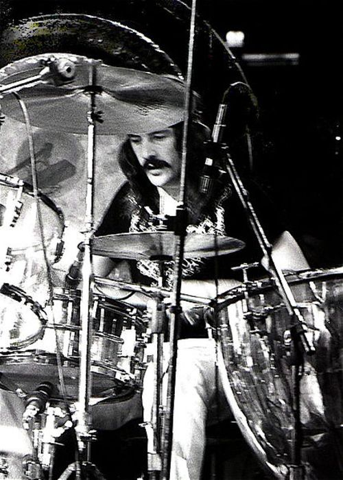 John Bonham seen performing onstage in the 1970s