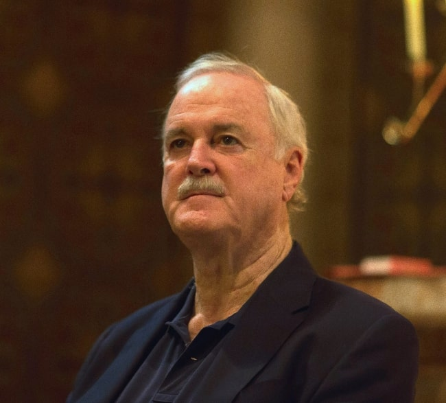 John Cleese pictured at St Patrick's Cathedral, Melbourne in 2014