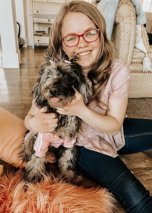 JourNee Nelson as seen in a picture with her dog that was taken in March 2020
