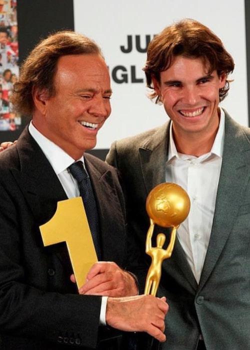 Julio Iglesias with Rafael Nadal, as seen in June 2017