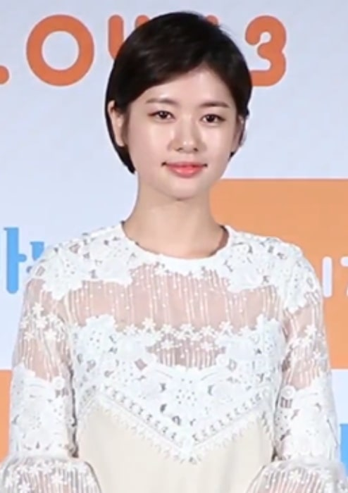 Jung So-min as seen at the press conference for the film 'Daddy You, Daughter Me'