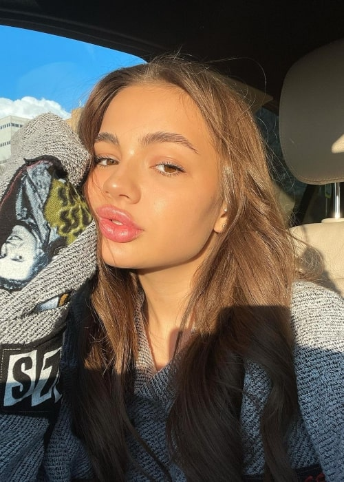 Karna.val as seen in a selfie that was taken in April 2021