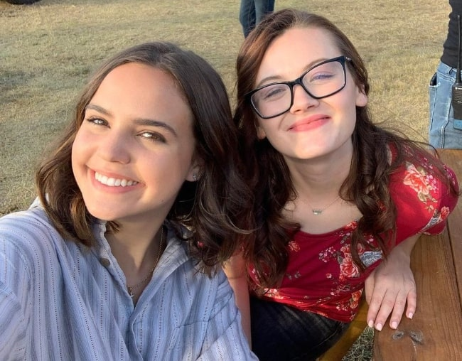 Kat Conner Sterling (Right) as seen while smiling for a selfie with Bailee Madison in March 2021