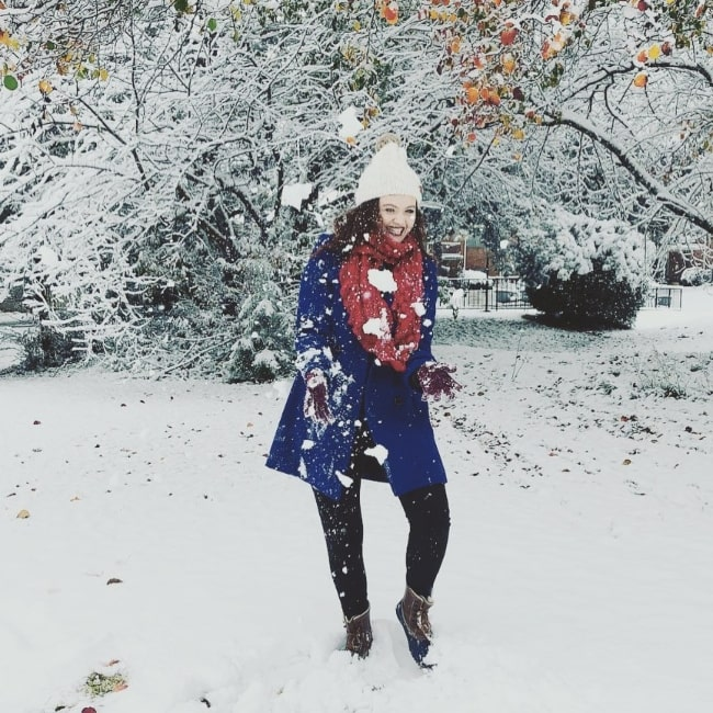 Kat Conner Sterling as seen while enjoying the snowfall in December 2019