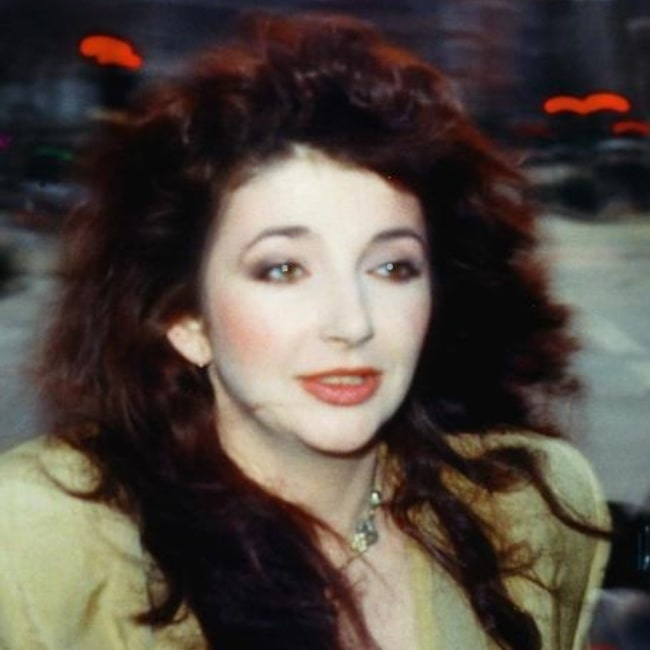 Kate Bush as seen in a picture that was taken just as she was about to perform at Comic Relief 1986