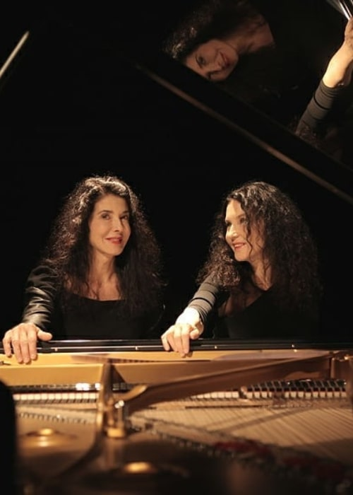Katia Labèque and Marielle Labèque, as seen in March 2021