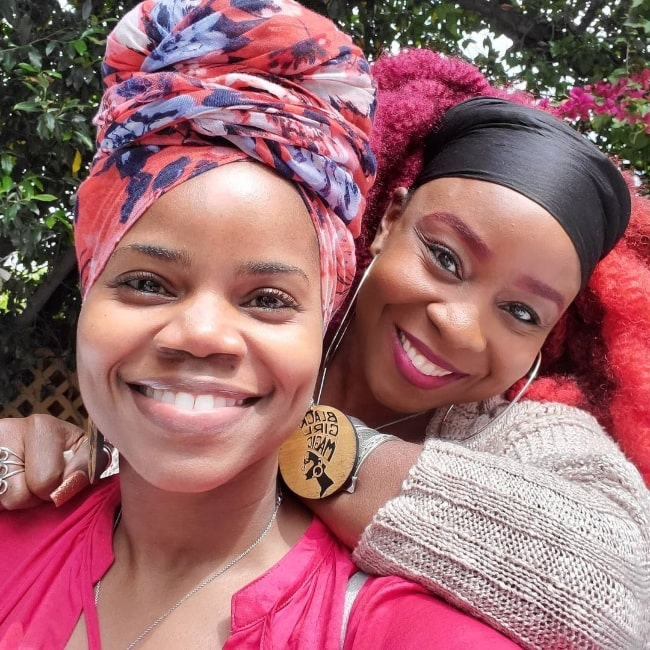 Kelly Jenrette (Front) as seen while taking a selfie with Patricia Cuffie-Jones