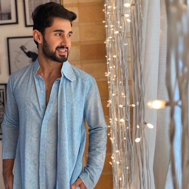 Laksh Lalwani as seen while posing for a Diwali picture in November 2020