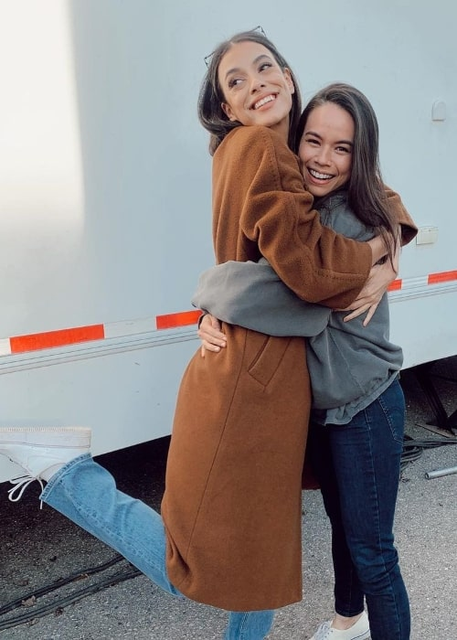 Laysla De Oliveira (Left) posing for a picture with Genevieve Kang in an Instagram post in April 2021