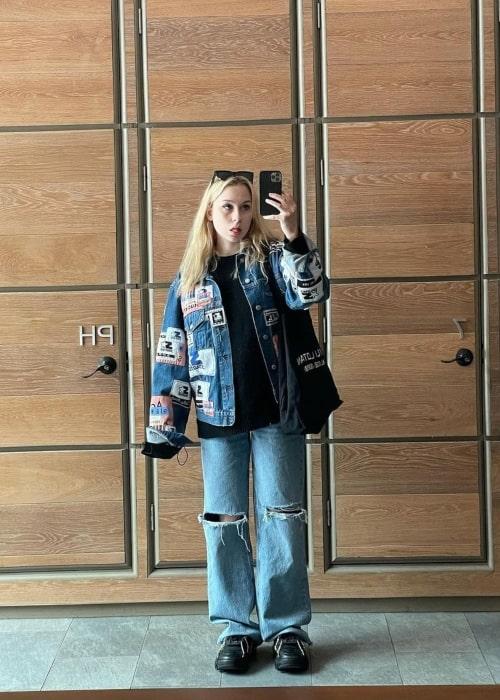 Leyla Blue as seen in a selfie that was taken in New York CIty, New York in March 2021