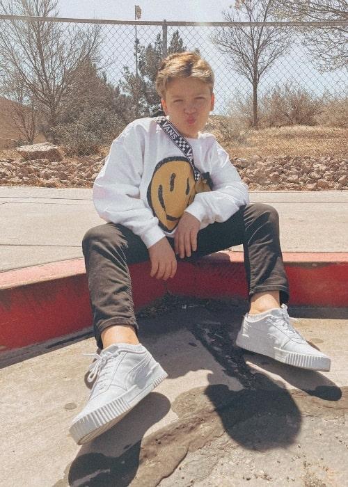Luke Nelson as seen in a picture that was taken in March 2021