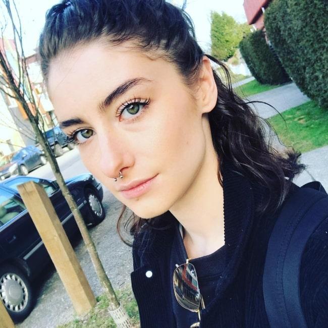 Mackenzie Cardwell taking a selfie in March 2019