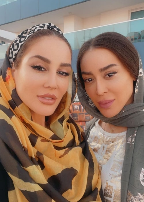 Mandana Mani and Mehrnoosh Mani as seen in a selfie that was taken in February 2021