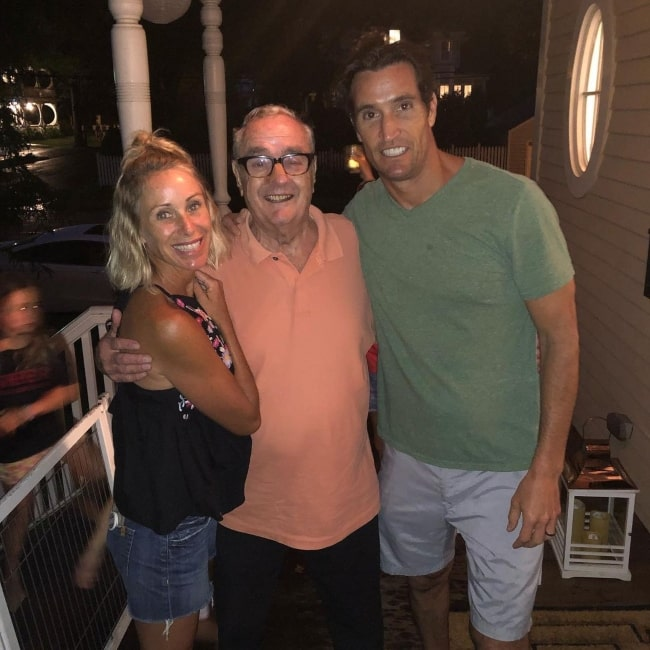Matthew Del Negro enjoying family time in July 2019