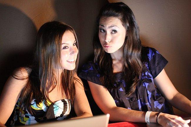 Meena Harris (r) and Rebecca Sawyer seen in 2008