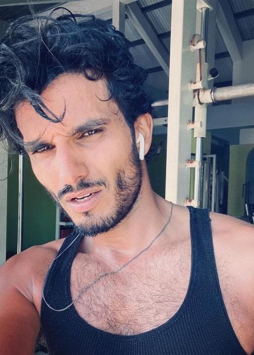 Mehdi Dehbi as seen in a selfie in March 2021