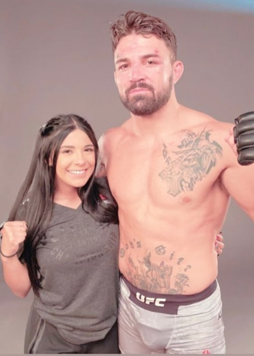 Mike Perry and Latory Gonzalez, as seen in January 2021