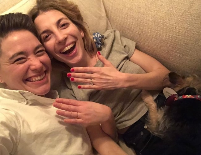 Molly Bernard in January 2021 triumphant of having completed one whole year of being engaged to her brightest light