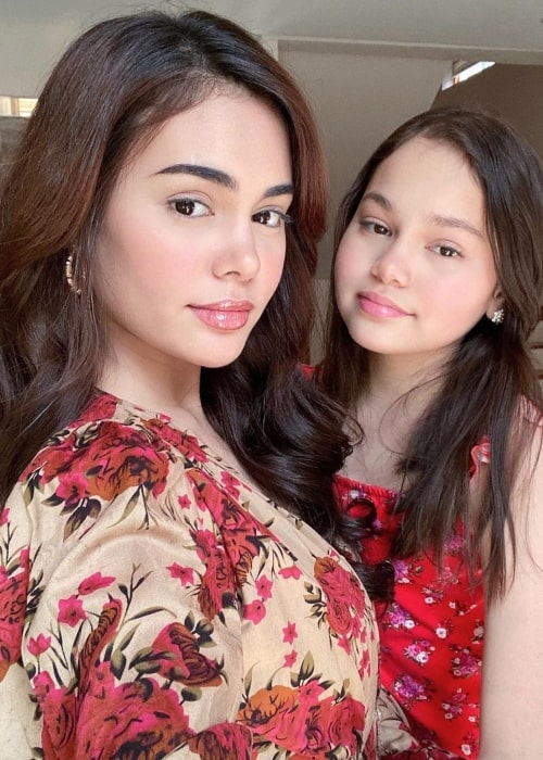 Mona Louise Rey and her sister actress Ivana Alawi in May 2020