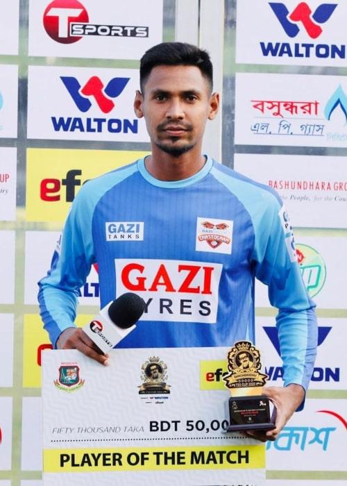 Mustafizur Rahman as seen in an Instagram Post in November 2020