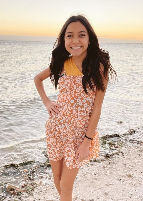 NayVee Nelson as seen in a picture that was taken at the beach in March 2021