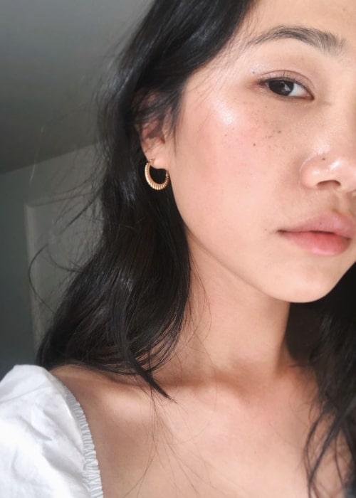 Olivia Liang seen in a selfie taken in March 2019