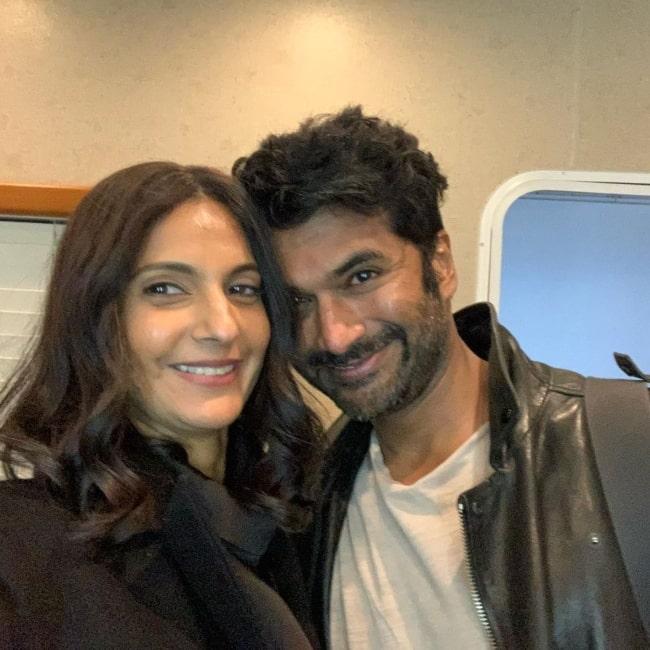 Poorna Jagannathan as seen in a selfie with actor Sendhil Ramamurthy in April 2021