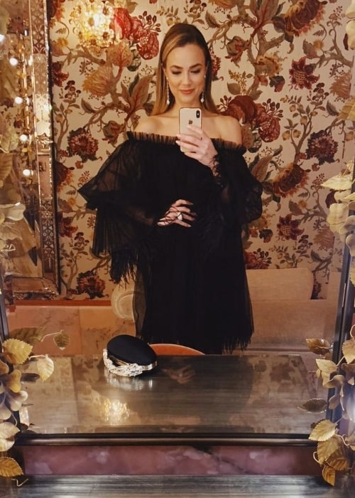 Rebecca Rittenhouse as seen while clicking a mirror selfie in an Instagram post in November 2019