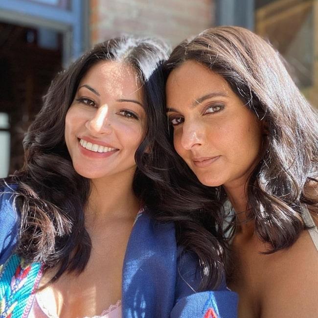 Richa Moorjani (Left) and Poorna Jagannathan in an Instagram post in December 2020