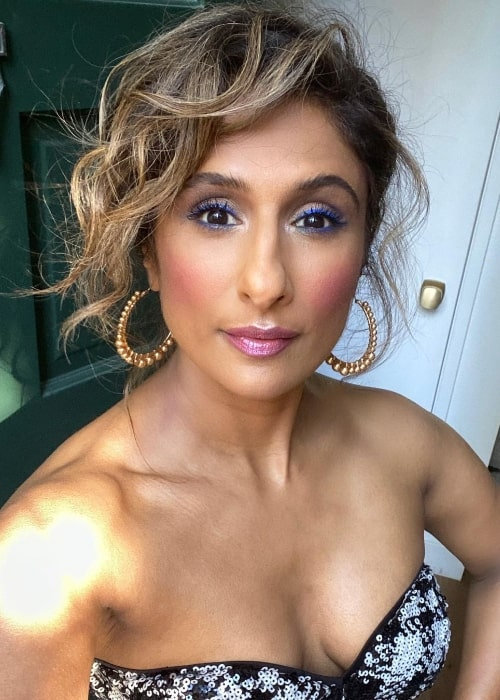 Sarayu Blue as seen while taking a selfie in February 2021