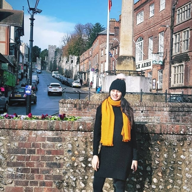 Suhani Dhanki as seen while posing for a picture in Arundel, West Sussex