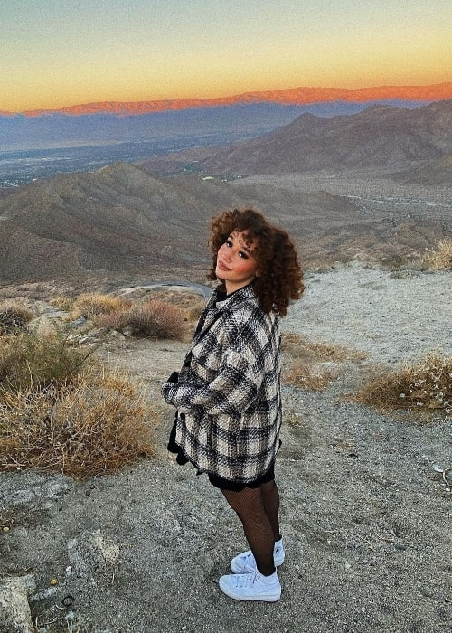 Talia Jackson as seen while posing for the camera in La Quinta, California in December 2020
