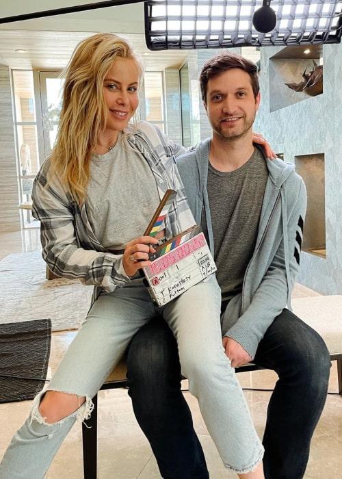 Tara Lipinski and Todd Kapostasy, as seen in April 2021