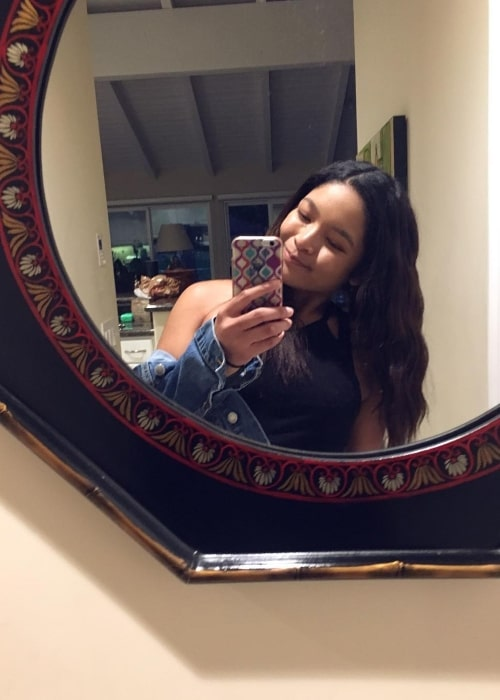 Tisha Custodio as seen in a selfie that was taken in September 2017
