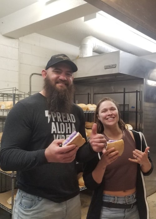 Travis Browne and Ronda Rousey, as seen in February 2020