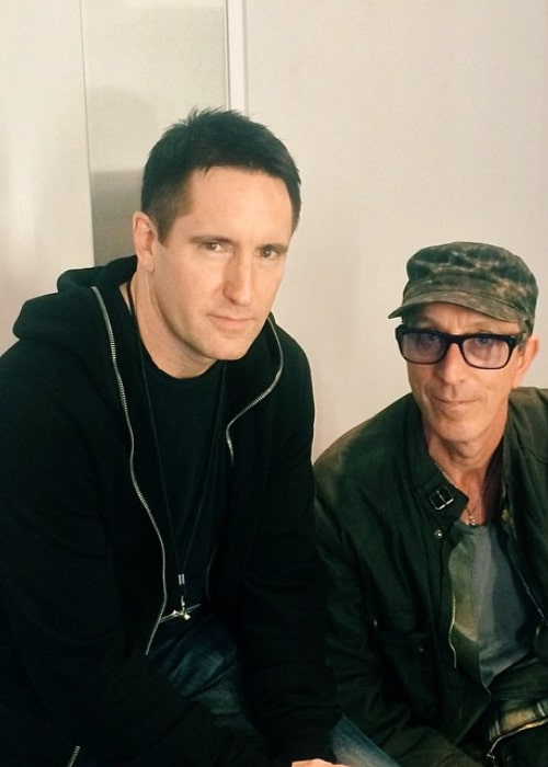 Trent Reznor and musician Pino Palladino, as seen in May 2014